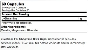 optimum nutrition glutamine 1000 mg - 120 capsules