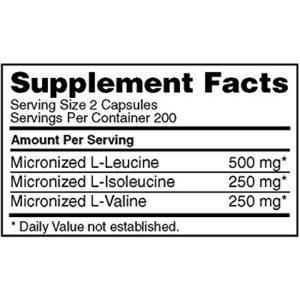 optimum nutrition bcaa - 400 caps